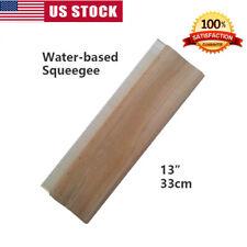 Usa 13in Silk Screen Printing Squeegee Ink Scraper Scratch Board 65 Durometers