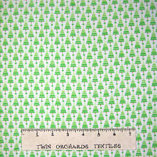 Flannel Fabric - Home for Holidays Bright Christmas Tree White Riley Blake YARD