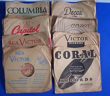 Lot 78 RPM Paper Sleeves for 10 inch Records RCA Capital Decca Coral London