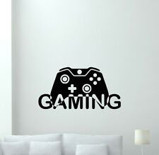 Video Game Wall Decal Gaming Gamepad Playroom Vinyl Sticker Gamer Decor 110quo
