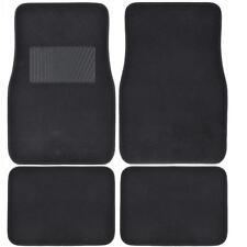 Supreme Plush 4 Piece High Quality Carpet Auto Car Floor Mats Solid Black