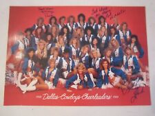 1988 - 1989 DALLAS COWBOYS CHEERLEADERS PHOTO WITH 3 AUTOGRAPHS - TUB CBB
