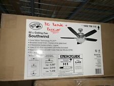 "Hampton Bay Southwind 52"" Led Brushed Nickel Ceiling Fan - No Remote & Receiver"