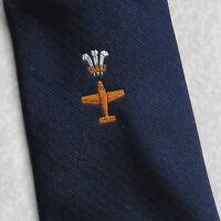 Vintage REGIMENTAL Tie Mens Necktie Club AEROPLANE PILOT AVIATION AIRLINE WALES