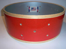 Gretsch USA Custom Drum Shell 6 Ply Snare 5x14 Cherry Red Sparkle 10 Lug Drilled