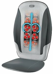 Homedics SBM-380H Back Shoulder Heat Dual Knead Shiatsu Massager Massage Chair N
