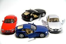 "4PC Set: 5"" Kinsmart BMW Z4 Coupe Hardtop Diecast Model Toy Car 1:32"
