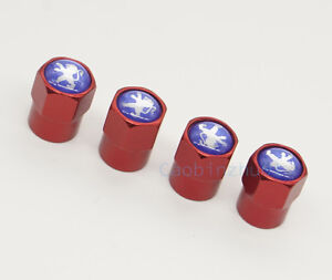 4x Red New Car Parts Accessories Wheel Cover Tire Valve Stem Caps for Peugeot