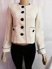 JEANETTE MINER COUTURE LIMITED PARIS IVORY WOMEN'S JACKET BLAZER TOP SIZE 38/M/2
