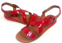 KELSI DAGGER, GINETTE SANDAL, WOMENS, RED, US SIZE 7.5 M, EURO 37.5, NEW IN BOX