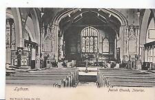 Lancashire Postcard - Lytham - Parish Church - Interior     1874