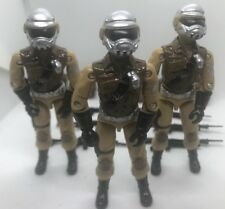 Black Major Custom Tan Steel Brigade Joe 3Fig Lot