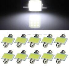 10X White COB LED Interior Map Dome Light Bulbs 31MM Festoon 3175 3022 DE3175