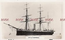 "Royal Navy Real Photo. HMS ""Canada"" screw corvette. Barque Rigged. Rare! 1896."