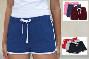 Womans Ladies Girls Womens Retro Training Fitness Exercise Cotton Sports Shorts