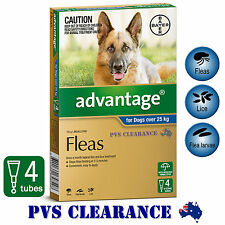 Advantage Blue 4 for Large Dogs Over 25 kg -  4 Pack - CLEARANCE - Dog Fleas