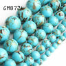 Light Blue Howlite Stone Round Loose Shell Beads for Jewelry Making 4/6/8/10MM