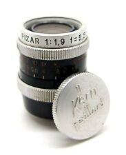 Paillard Bolex Kern PIZAR D-Mount 5.5mm f1.9 Lens & Cap