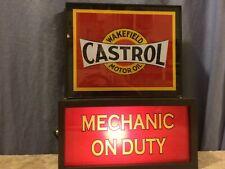 Castrol OldLogo Oil Gas Station Garage Man Cave Advertising Lighted Sign