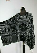 Tom Franks Semi-sheer Monocromatico sequinned Kimono Top Nero