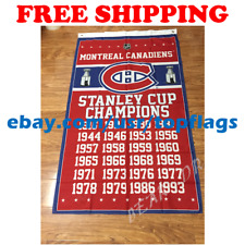 Montreal Canadiens Stanley Cup Champions Flag Banner 3x5 ft 2019 NHL Hockey NEW