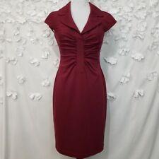 London Times Pin Up Cap Sleeve Sheath Dress Size 8