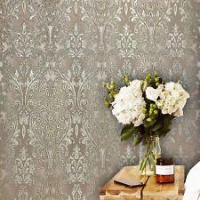 Modern Non-Woven Wallpaper Gold beige ivory Wallcoverings Roll Texture Damask 3D