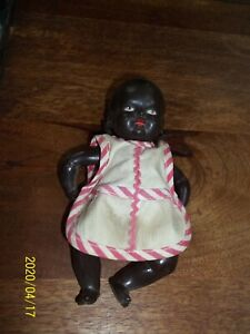 "Vintage Schildkrot 6""tall Turtle Marked 16 16 1/2 Black Celluloid MAMBI  Doll"