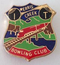 Werris Creek Bowling Club Badge Rare Vintage Railway Train Design (M11)
