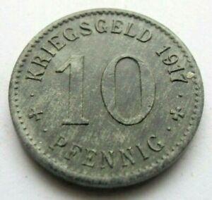 (294) NOTGELD COIN   10 PFENNIG  -  1917  -  CITY OF LETMATHE