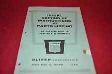 Oliver Tractor 340 Planter Dealer's Parts Book Manual Bvpa