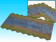 Hexfeld: Fluß mit Sechseckraster