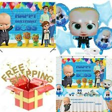 OPATER Baby Boss Balloons Birthday Party Supplies Decorations Boss Day Balloons