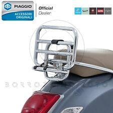 PORTAPACCHI POSTERIORE CROMATO ORIGINALE PIAGGIO VESPA GTS SUPER 300 2008-19