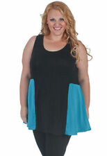 Plus Size Chiffon Solid Sleeveless Tops & Blouses for Women