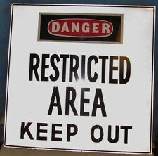 Danger Restricted Area Keep Out Industrial Metal Steel Sign ~ 24 x 24 ~ S162