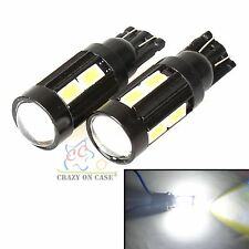 4x T10 194 168 SMD 5630 LED Car Wedge Tail Side Parker Interior Light 12V WHITE