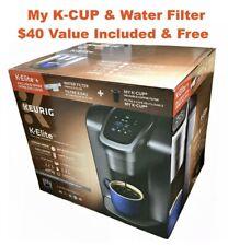 New Keurig K-Elite Brushed Silver Coffee Maker Bonus 15 K-cups, Filter & handle