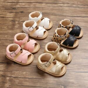 Baby First Walkers Baby Girl Slippers Toddler Kids Nursery Summer Leather Shoes