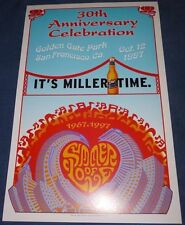 SUMMER OF LOVE 30TH ANNIVERSARY Miller Beer Promo poster San Francisco Oct 12 97