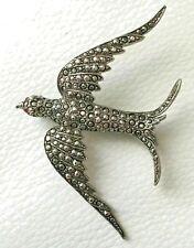 Broche Oiseau Volant  Argenté Vintage Style Original Soirée XZ 4