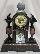 05C11 antik Uhr Notar ein Spalten Marmor Schwarz Napoleon III XIX