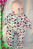 """Doll Clothes Baby Made 2 Fit American Girl 15"""" Bitty Pajamas Scottie Dog Green"""