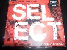 Select Universal Promo 2006 The Killers Elton John Monster Magnet U2 Westlife CD