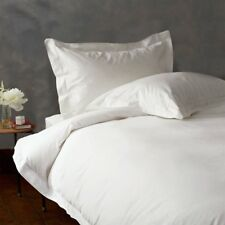 Full / Queen White Solid Duvet Set + Fitted Sheet 1000 TC 100% Egyptian Cotton