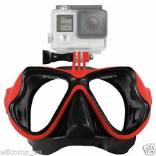 With GoPro Bracket Liquid  Silicone Mask for Snorkelling Scuba Diving WIL-DM-GPR