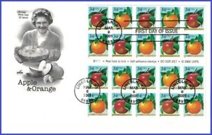 USA3 #3491-92 U/A ARTCRAFT FDC BKLT20  Apple & Orange