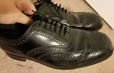 FLS Florsheim Wing Tip Oxfords Loafers Mens Dress Shoes Size 8.5 3 E EEE Wide ~