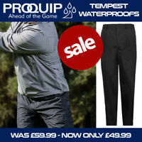 ProQuip Men's Tempest Waterproof Golf Trousers - Black NEW! 2020 *REDUCED*