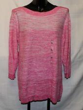 NWT XL Women's Tommy Hilfiger Pink Marl Knit Boat Neck Sweater
